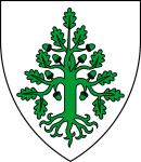 Das Wappen der Eichenschänder - Vorlage der Eichenfigur aus dem Fundus von Christie L. Ward (CC BY-SA 3.0).